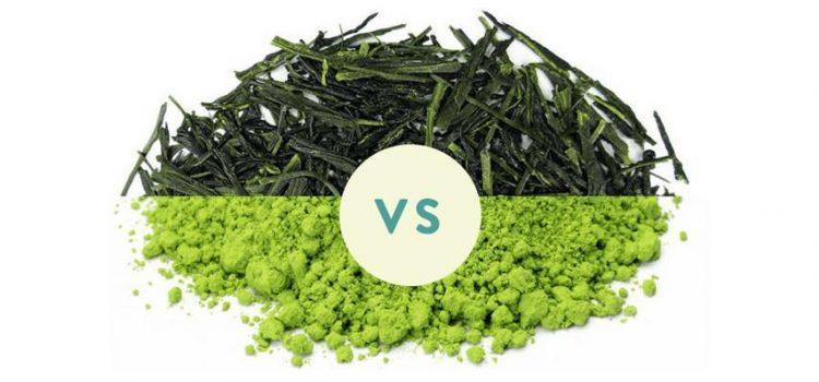 Quelles sont les différences entre le thé vert et le thé matcha.