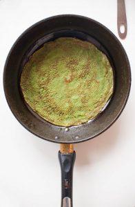 crêpes au thé matcha